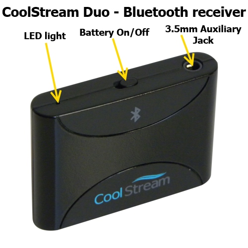 coolstream duo bluetooth music receiver coolstream. Black Bedroom Furniture Sets. Home Design Ideas