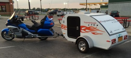 Tiny Trailer Travels with Honda Goldwing and CoolStream Duo