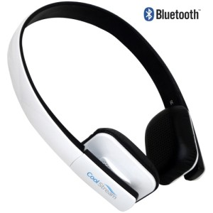 CoolStream Bluetooth Devices - CoolStream Bluetooth Headphones - White