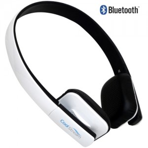 CoolStream Bluetooth Headphones - White
