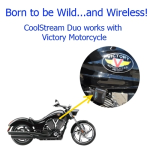 CoolStream Duo works with Victory Motorcycle
