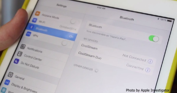 CoolStream Duo Bluetooth Receiver with iPad