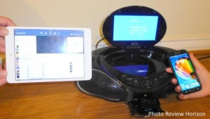 CoolStream Duo with iPad and Samsung Galaxy