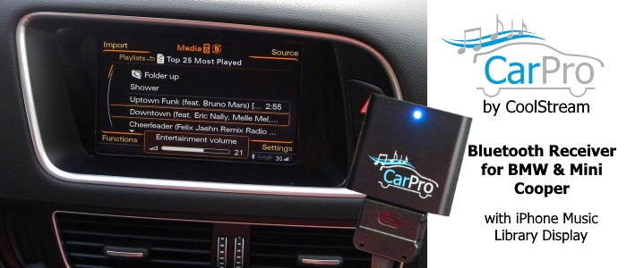 CarPro - Bluetooth Receiver BMW Mini Cooper iPod Y Cable