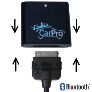 CoolStream CarPro Bluetooth Receiver for Mercedes iPod Cable