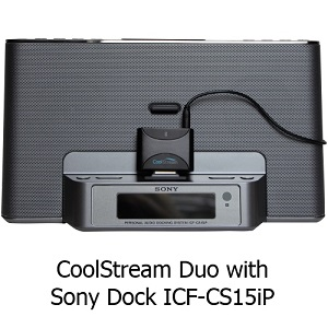 CoolStream Duo on Sony ICF-CS15IP