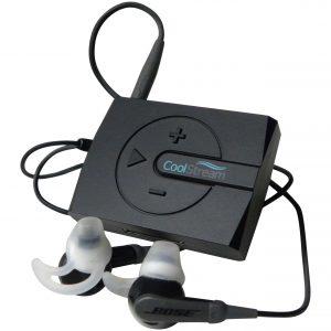 black boom with earphones
