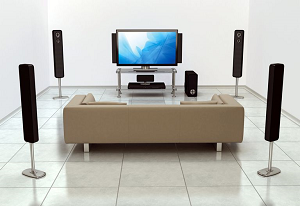 surround sound speaker system improves the experience of movies and television.
