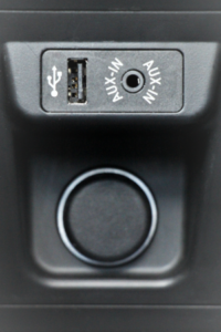 Aux port USB close up