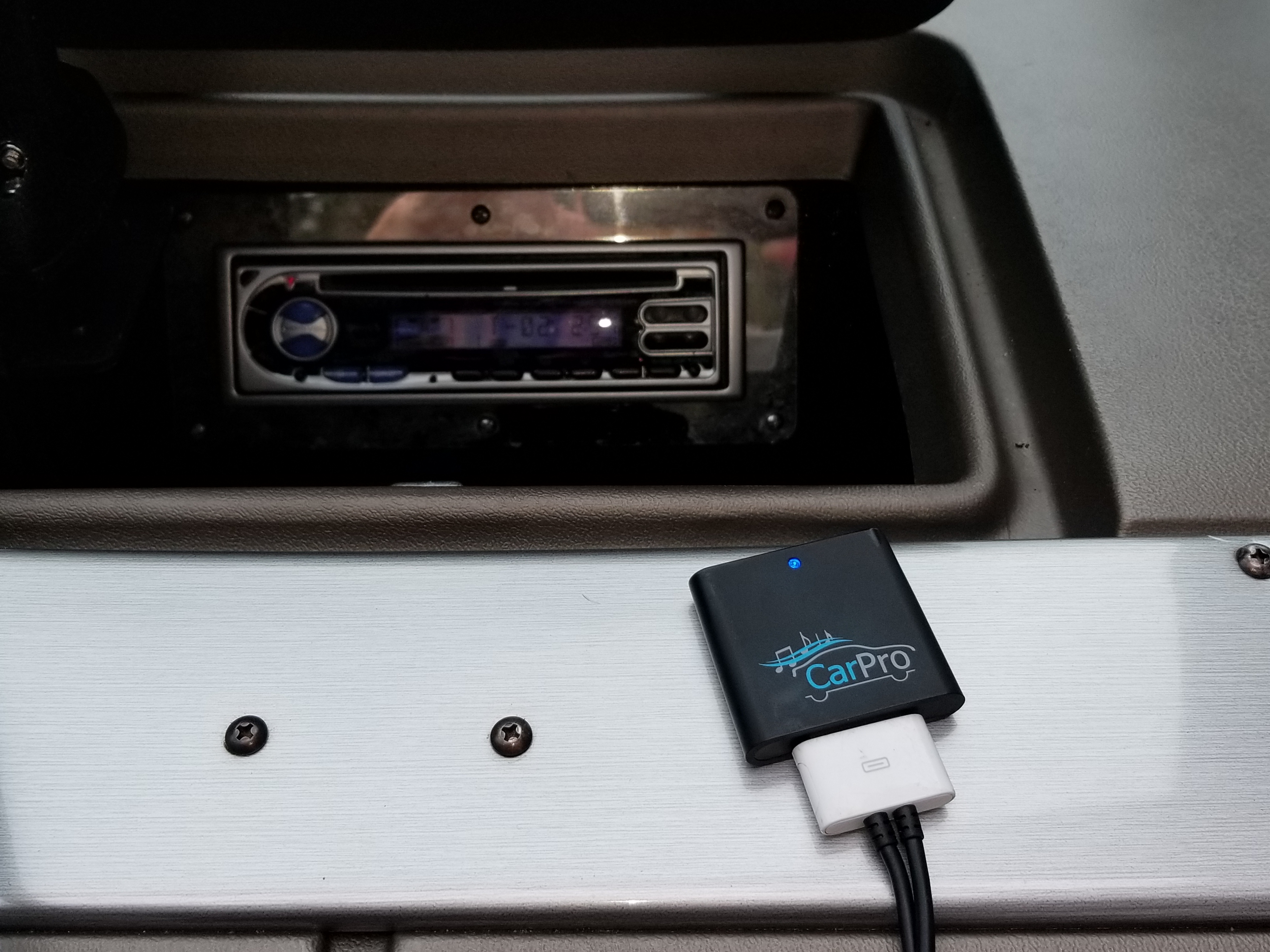 Kenwood Marine Stereo attached to the CoolStream CarPro