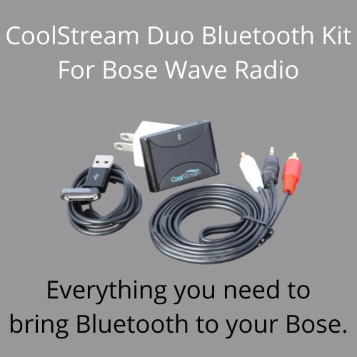 The CoolStream Duo Bluetooth kit for Bose Wave Radio