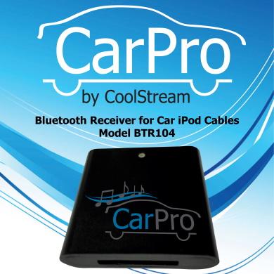 CoolStream CarPro Quick Start Guide