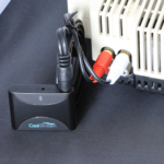 The CoolStream Duo attached to Bose Wave using RCA to 3.5 mm cable.