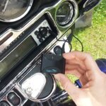 CoolStream Duo connected to Harley Davidson using Aux-In port.